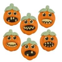 72 pcs Sugar pumpkins  Halloween , flat, assorted