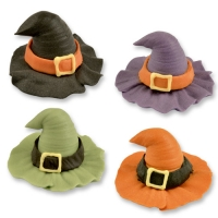 36 pcs Sugar witch hats, assorted