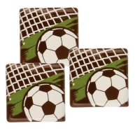 140 pcs Soccer-square, dark chocolate