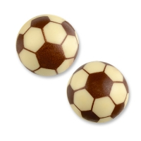 40 pcs Sphere, white chocolate, football
