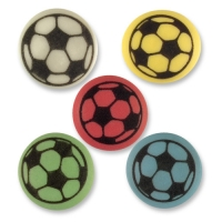 180 pcs Footballs, flat, assorted