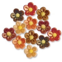 120 pcs Small marzipan flowers, antique, assorted