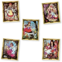 Sugar coating fairytale motifs, assorted