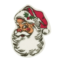 Santa's head, sugar coating