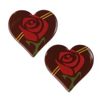Heart, rose, dark chocolate, ass.