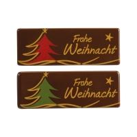 Dark chocolate plaque  Frohe Weihnacht , assorted