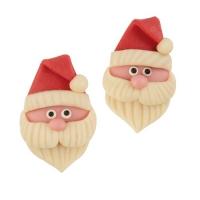 30 pcs Marzipan Santa head, flat