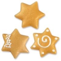 100 pcs Large marzipan stars, assorted