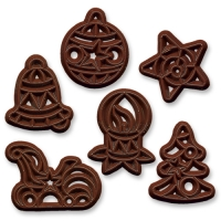240 pcs Chocolate Christmas filigrees