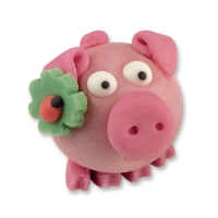 72 pcs Marzipan piglet with clover leaf