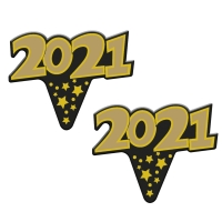 100 pcs Paper Label Year 2021