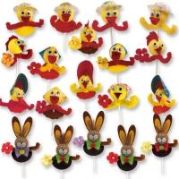 Easter novelties on stick
