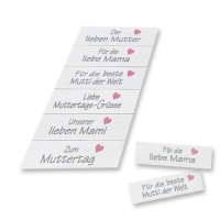 "Paper card ""Mother´s Day"", with different texts"