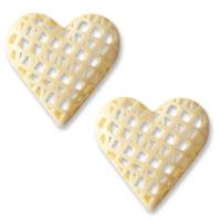 32 pcs White chocolate hearts