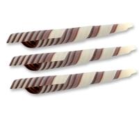 117 pcs White/dark chocolate Turritella