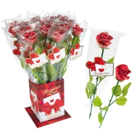 20 pcs Red marzipan rose  Elegance