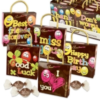 16 pcs Emotion bags  balloons  with sayings, with pralines