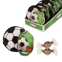 16 pcs Plush pouch  Football  filled with pralines