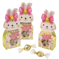 Praline gift Easter bunny, filled with white pralines