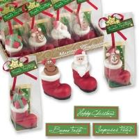 Marzipan Santa boots in cellophane bag