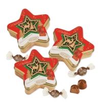 """Tin box, star """"Christmas"""""""