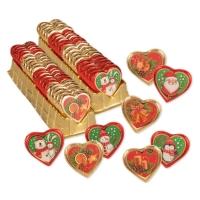 40 pcs Praline heart  Christmas , asstd.