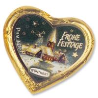 Large chocolate Christmas heart