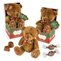 Plush teddy in box