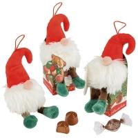Plush elf on box