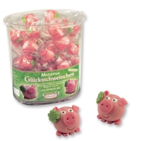 100 pcs Marzipan lucky pig in vase