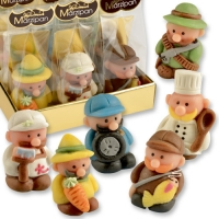 12 pcs Marzipan set occupations in cellophan bag and tray