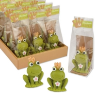 AUSVERKAUFT!Marzipan frog in cellophane bag and tray