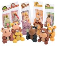 12 pcs Marzipan animals in cellophane bag, small