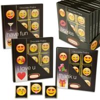 "Choco praline box ""Emoticons"", with napolitans"