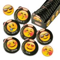 36 pcs Praline thaler  Emoticons , assorted
