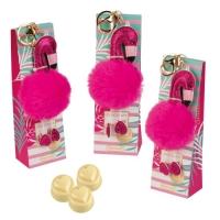 9 pcs Keychain  Plush flamingo  on box