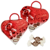 12 pcs Heart praline gift  For you , filled with pralines