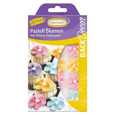 15 pcs Sugar flowers
