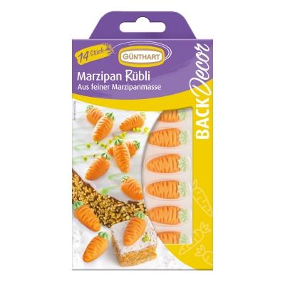 15 pcs Marzipan carrots