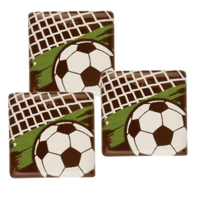 140 pcs Soccer-square, dark chocolate