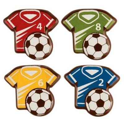 96 pcs Soccer T-shirt, dark chocolate, assorted