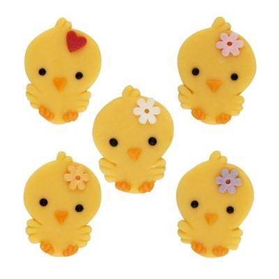 60 pcs Marzipan chicks, flat, asstd.