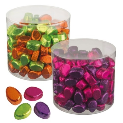 2 pcs cans small chocolate eggs